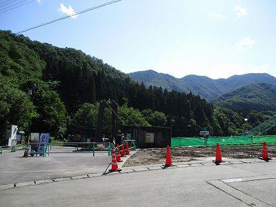 大源太のダム工事の様子